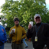 2011 49er  Mariposa<br /> Peter Oxenbol, Cliff Dunn and Nick Brown have their morning coffee. (Photo: Doug Moore)