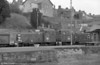 Class 03s 03119 and 03382 are seen on a coal train at Llandeilo on 11th April 1983.