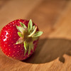 Fresh strawberrie on wooden table