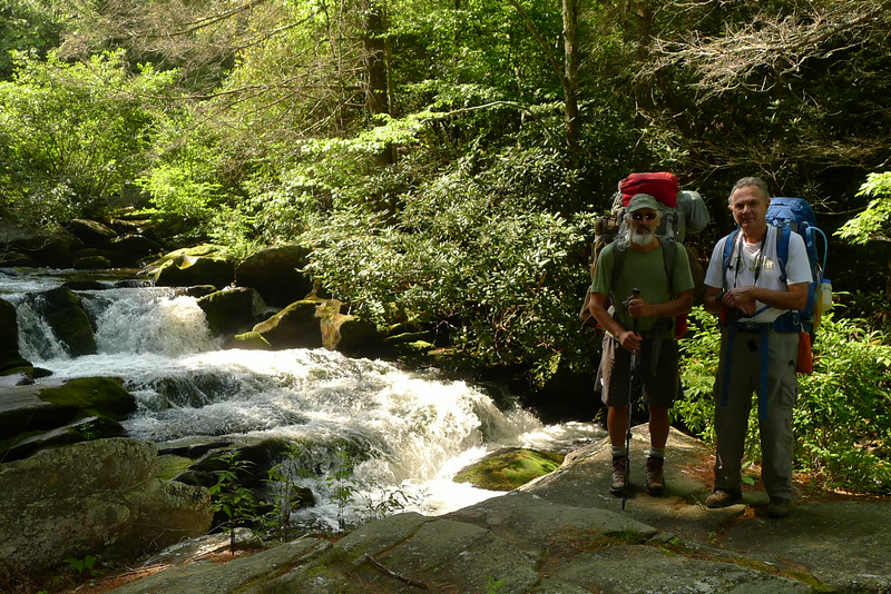 Will Skelton and myself at the Bald River Cascades.