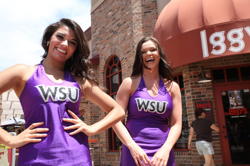 Weber State University cheerleaders