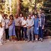 Connie Schlusser, Denny Schlusser, Lois Wardell, George Saunders, Barbara Wardell, Diane Wheat, Dave Wheat, George Spence, Penny Spence, Albert Wardell, Madge Wardell at Shaver Lake