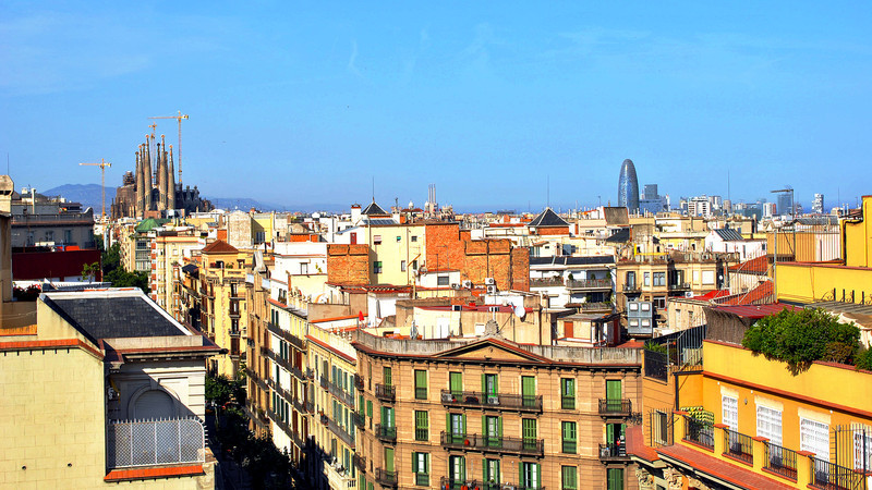 Barcelona vista from La Pedrera