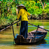 Mekong  Delta - A Lady and her Boat