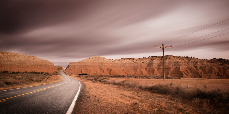 A break in the wall. Border between Utah and Arizona, USA, 2013. Ideal Print Format: 1:2 Pano.