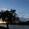sunrise at Noccundra waterhole, on the Wilson River.
