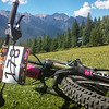 27 July 2014 - Singletrack6 Day 2, Nipika - post race soak in the lake, while my bike rests on the grass