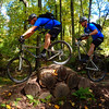 Mike over logs Panorama