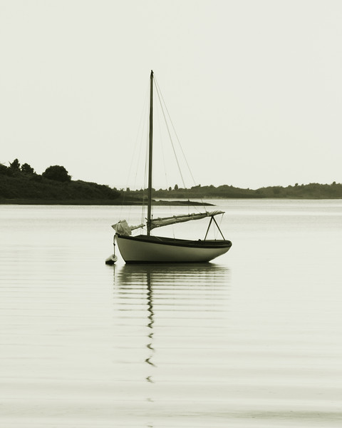Resting Sloop in Menemsha Pond, Martha's Vineyard