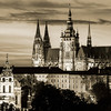 Prague Castle Dusk B&W01