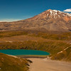Lower Tama Lake and Mount Ruapehu, Tongarariro National Park, New Zealand
