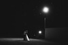 Night Time Bride and Groom Portraits