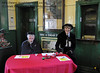 The reception team for Victorian Christmas at Horsted Keynes. 20.12 2013  9915