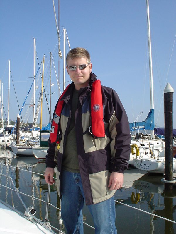 John ready for a day of sailing on our first Basic Cruising class