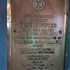 Plaque on the FDNY Fire Fighter docked in Greenport, NY for restoration.