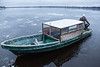 Taxi boat heading back to Moose Factory.