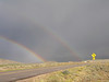 Double Rainbow on motorcycle ride home near Gould, CO