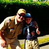 Pack 80 Cubs Bear Cubs Den leader and Bear Cub at Magnolia Seafair Parade