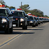 Line Of Police Cars