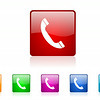 phone square web glossy icon colorful set