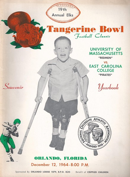 1964 ECU vs UMASS Tangerine Bowl Game Program