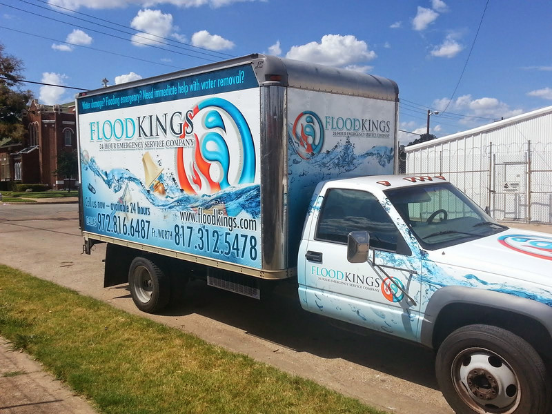 "Truck Wrap for Flood Kings in Dallas, TX  <a href=""http://www.skinzwraps.com"">http://www.skinzwraps.com</a>"