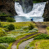 Hjardfoss - A convergence of two water falls.  Incredibly beautiful !!