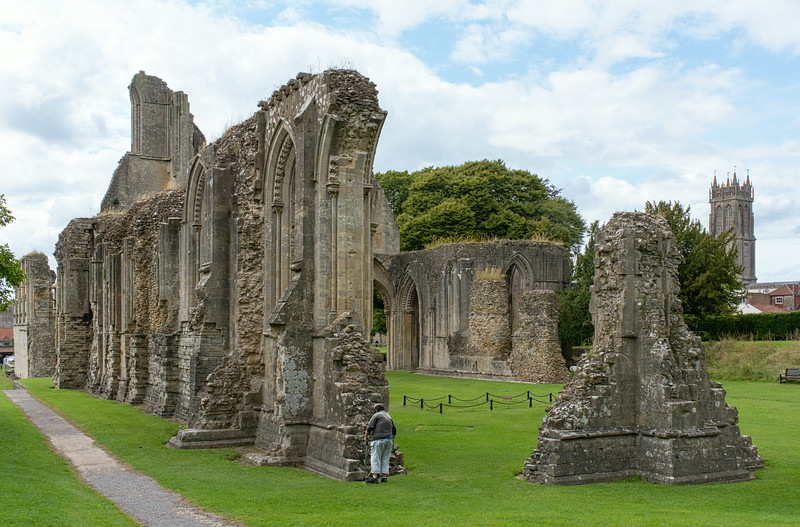 Site of Arthur's Tomb, in the Great Church, Glastonbury Abbey