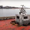 Newburyport: The fisherman's memorial on Newburyport's waterfront may be moved to make way for an expanded harbormaster's headquarters. Bryan Eaton/Staff Photo