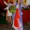 Two Dancers With Leaves<br /> Nat Festival<br /> Hintha Gon Shrine<br /> <br /> Bago, Burma<br /> 25 December 2012