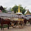 Horse Carts And Stupas<br /> Downtown Market<br /> <br /> Nyaung Shwe, Burma<br /> 3 November 2013