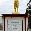 General Bogyoke Aung San Statue<br /> Downtown<br /> <br /> Nyaung Shwe, Burma<br /> 3 November 2013