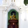 Buddhist Monk Meditating<br /> Shwedagon Pagoda<br /> <br /> Yangon, Burma<br /> 5 October 2013