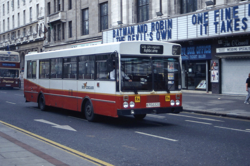 Bus Eireann KR220 O Connell St Dublin Jul 87