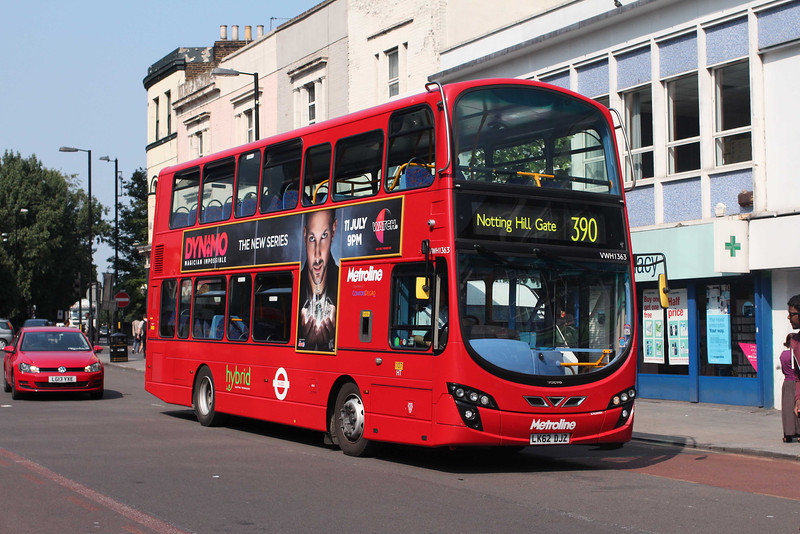 Metroline VWH1363-LK62DJZ on route 390 at Archway