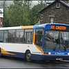 On a very wet Sunday, Stagecoach North West Dart 33170 (T608JBA) loads at Ambleside before setting off on service 505 to Coniston - 22 June 2008.