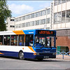 Stagecoach Gloucester Transbus Dart 34843 (VU06JBO) departs on Gloucester Town Service 9 to Tuffley Court - 25 May 2006.