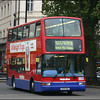 Metroline Volvo VP574 (LK04EMJ) waits at traffic lights at Marble Arch on route 6 to Kensal Rise Station - 2 November 2004.