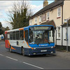 Stagecoach Southdown Volvo 20689 (P829FVU) stops outside the 'Old House at Home' public house in West Wittering on service 53 to Chichester via East Wittering & Bracklesham Bay - 9 March 2003.