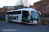 "Eddie Stobart C8ESL, an Irizar bodied Scania K400 named ""Laura Abby"" on rail replacement work at Carlisle Station on 28th December. During a chat with the driver he apologised for not being in uniform because he had been called out at such short notice!"