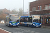 Stagecoach 37095 and 37086, Lowther Street, Carlisle, 4th November 2014