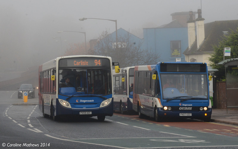 Stagecoach 24117 and 47474, West Tower Street, 4th November 2014