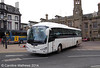 Alba Travel YR62DZS, an Irizar bodied Scania K360, departing Carlisle on a rail replacement service on 29th January 2014.