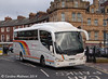 Travellers Choice Irizar bodied Scania K114 479GTA turning into the station forecourt on 29th January.
