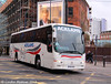 Acklams of Beverley Plaxton bodied Volvo B12B YX57AAU on Corporation Street on 7th December 2013.