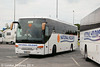 National Holidays Setra S415GT NH11FTH reversing from the parking area at Wetherby Services on 13th June.