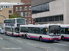 Another First Volvo B10BLE, 60681 (T863MAK) in the queue of buses on Arundel Gate, 11th August.