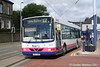 Pulling away from Hillsborough Interchange on 11th August is First Wright bodied Volvo B10BLE 60681 (T863WAK).
