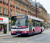 Also seen on Pinstone Street was First Volvo B10BLE/Wright 60642 (T824MAK)