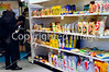 PARIS, FRANCE, Ethnic Food Trade Show, Store Shelves, Arabian / Halal Foods, Man SHopping in CATI Supermarket,